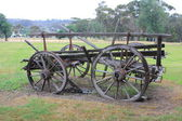Old historical horse drawn wagon — Stock Photo