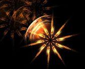 Świecące kwiatowy fraktal gwiazda streszczenie — Zdjęcie stockowe
