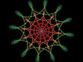 Colourful spiderweb fractal — Stock Photo