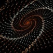 Dynamic three dimensional spiral shell abstract — Stock Photo #73836493