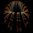 Creative three dimensional flowing tunnel abstract — Stock Photo #78469682