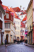 TALLINN, ESTONIA - NOVEMBER 11. The streets of the old town with — Stock Photo