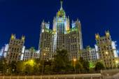 Stalin skyscraper in Moscow(Residential building on the waterfro — Stock Photo