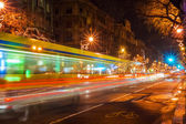 Traffic on night city — Stock Photo