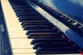 Old vintage piano keys — Stock Photo