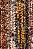 Background from multi-colored beads — Stock Photo