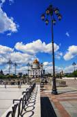 Christ the Savior Cathedral view from the Patriarchal bridge — Stock Photo