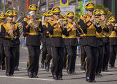 "MOSCOW, RUSSIA - August 7 parade military band at the festival "" — Stockfoto"