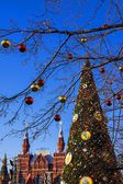 New Year's decoration of Red Square in Moscow, Russia — Zdjęcie stockowe