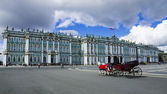 The Winter Palace on Palace Square in St. Petersburg, Russia — Stock Photo