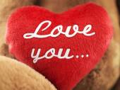 Heart with the inscription: love you .... (theme for Valentine's — Stock Photo