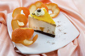 Delicious orange cake — 图库照片