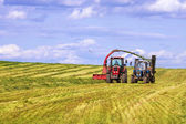 Agricultural equipment for harvesting hay — Stock Photo