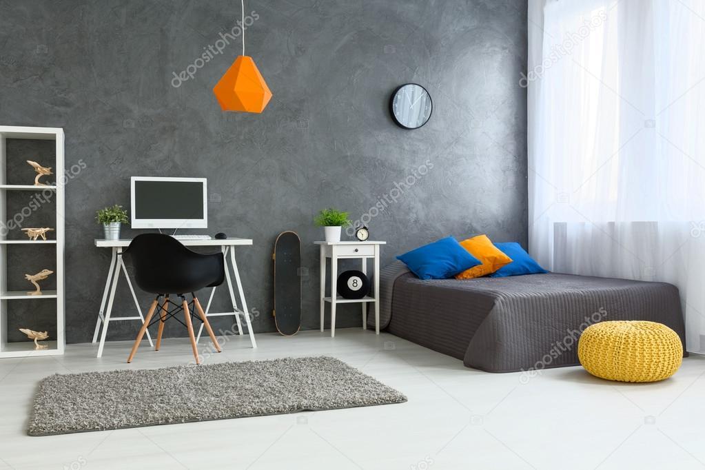Camera da letto perfetta per ragazzo adolescente foto stock 110665702 - Kleur muur slaapkamer tiener jongen ...
