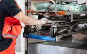 Paramedic with the stretcher — Stock Photo