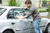Professional car cleaning — Stock Photo