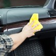 Polishing car from the inside — Stock Photo #52231593