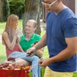 Students during barbecue — Stock Photo #52254889