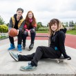 Teenagers at a skate park — Stock Photo #52500443
