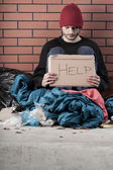 Homeless needs help — Stock Photo
