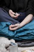 Homeless man addicted to drugs — Foto de Stock