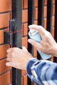 Man repairing a lock  — Stock Photo