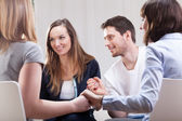 People satisfied on group therapy — Stock Photo