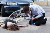 Fatal road accident — Stock Photo