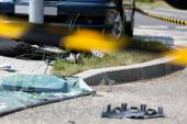 Deadly car accident — Stock Photo