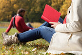 Autumn relax on fresh air — Stock Photo
