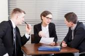 Business team trying to resolve problem — Stock Photo