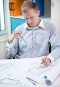 Architect at work. — Stock Photo
