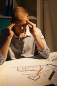 Architect thinking about project — Stock Photo