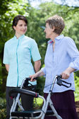Professional medical care at nursing home — Stock Photo