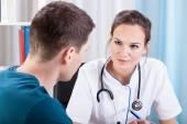 Man having medical consultation — Stock Photo