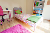 Cute pink room for girl — 图库照片