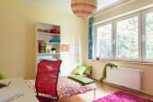 Bright girl room with white furniture — Stockfoto