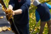 People working in a garden — Stock Photo