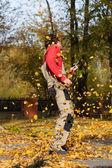 Break during garden cleaning — Foto Stock