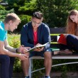 Studying on a students camp — Stock Photo #54163247