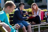 Diverse students studying — Stock Photo