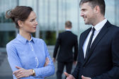 Colleagues having a coversation — Stock Photo