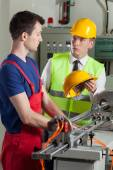 Supervisor in a factory — Stock Photo