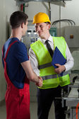 Welcome in a factory — Stock Photo