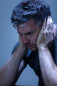 Man suffering from nervous breakdown — Stock Photo