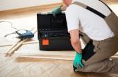 Handyman during house renovation — Stock Photo