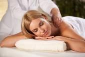 Pleasant back massage — Stock Photo