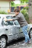 Home car wash — Stock Photo