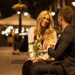 Romantic date on a bench — Stock Photo #56440055