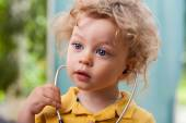 Child with a stethoscope — Stock Photo